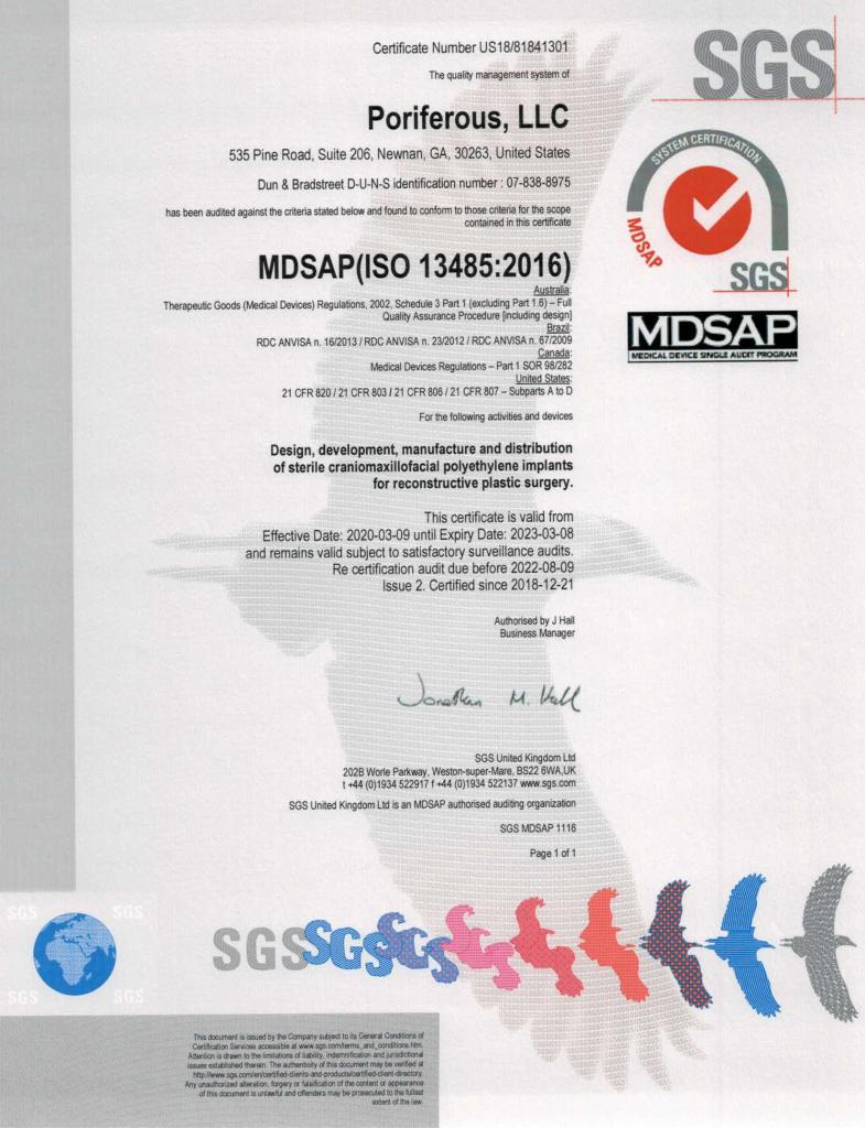 MDSAP Cert 3.9.2020