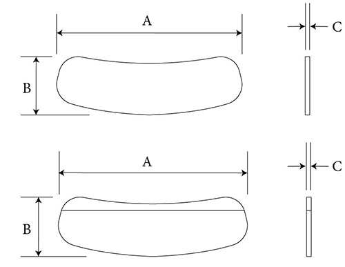 Lower Eyelid Spacer (and strip) diagram