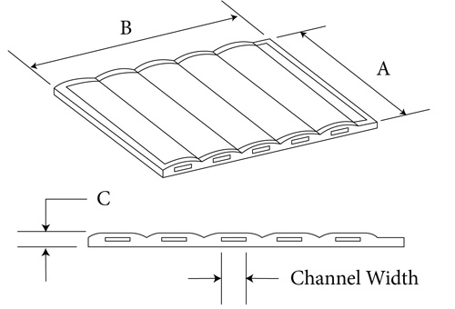 membrane miniplate or microplate channel sheet diagram