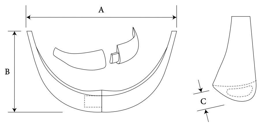 two-piece chin diagram