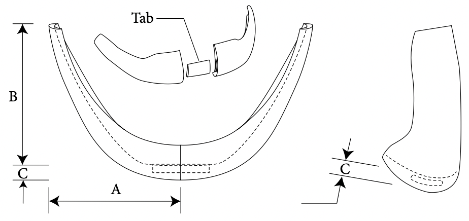 Square extended chin diagram